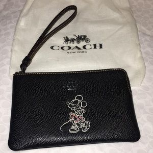 Coach Disney Wristlet rare authentic with dust bag